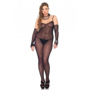 Bodystockings s rukavičkami (Plus Size)